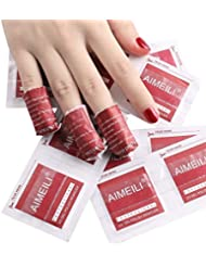 AIMEILI Gel Nail Polish Remover Soak Off Gel Pre Acetone Pads Removal Wraps - Pack Of 200pcs