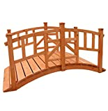KCT 5ft Vienna Wooden Garden Bridge - Pisces
