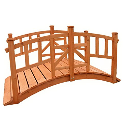 KCT Pisces Vienna Decorative Wooden Garden Bridge for Ponds and Streams 5060345212952