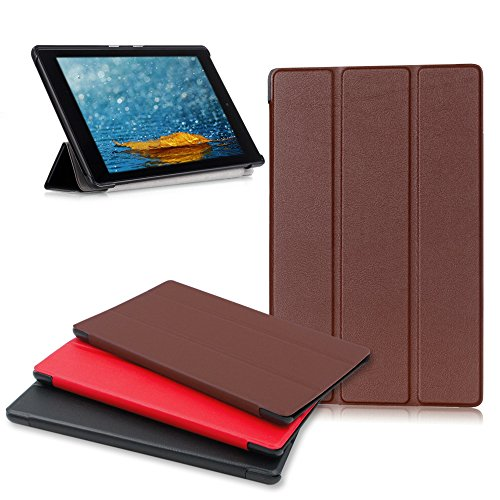 (Amazon Fire HD 8 Tablet Case, Buruis Premium Leather Shockproof fire 8 Case Trifold Stand Cover with Auto Wake Sleep for Kindle Fire HD 8 Tablet,)