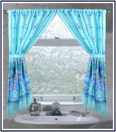 Fabric Window Bathroom Curtain (Carnation FWC-OC