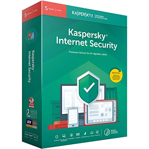 Kaspersky Internet Security 5 Geräte (Code in a Box). Für Windows 7/8/10/MAC/Android