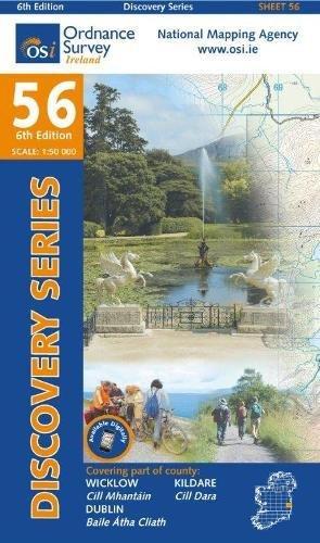 Irish Discovery Series 56. Wicklow, Dublin, Kildare 1 : 50 000