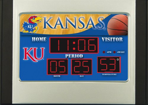 Kansas Jayhawks Scoreboard Desk Clock