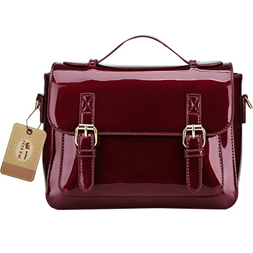 Quilted Faux Patent Leather - 7