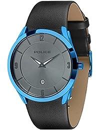 Target II Mens Gents Quartz Watch with Date Blue Case Grey Dial - PL 14217JSBL-. Police