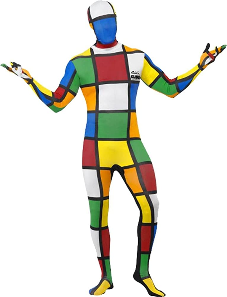 Unisex Film & TV Fancy Dress Disfraz de Cubo de Rubik Segunda Piel ...