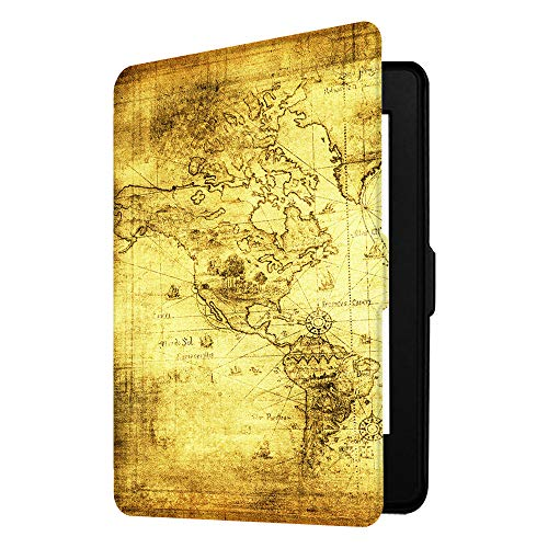 Fintie Slimshell Case for Kindle Paperwhite - Fits All Paperwhite Generations Prior to 2018 (Not Fit All-New Paperwhite 10th Gen), Ancient Map