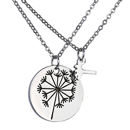 Dandelion Pendant Necklace Daughter Jewelry