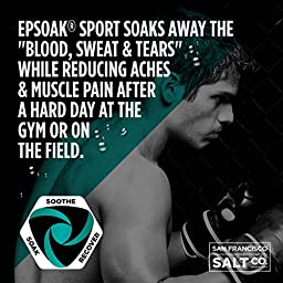 Epsoak SPORT Epsom Salt for Athletes - ENERGIZING. All-natural, therapeutic soak with Eucalyptus and Peppermint Essential Oil (5lb Bulk Bag)