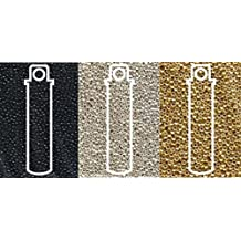 Metallic Miyuki Seed Beads Mix, Size 11/0, Galvanized Silver, Galvanized Gold and Black Opaque (8.2 Gram Tubes X 3)