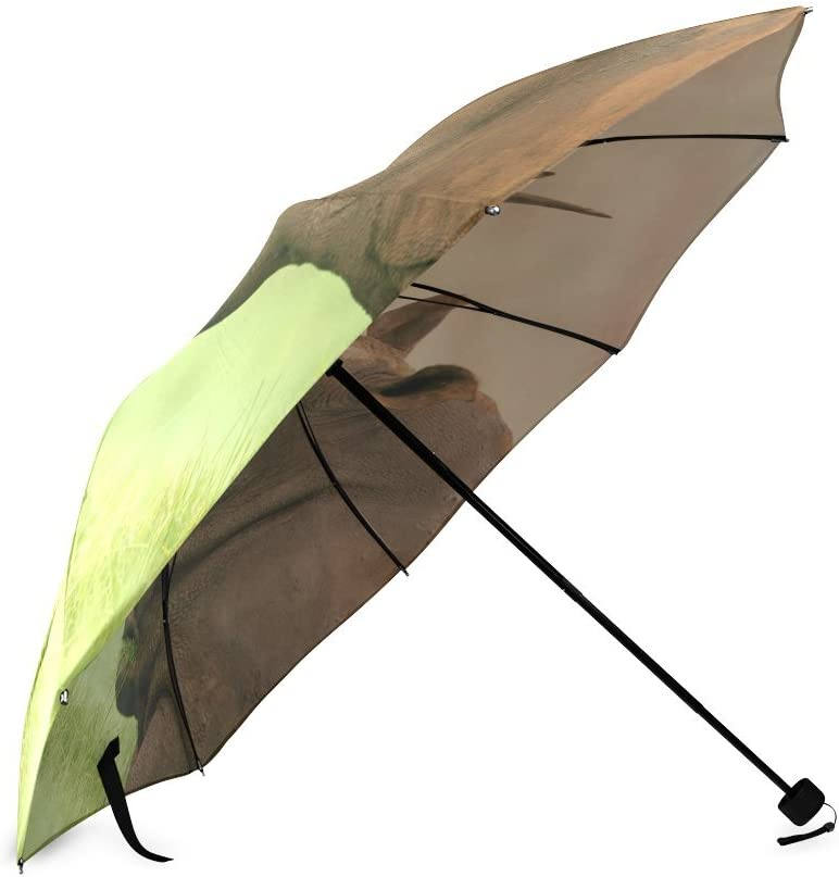 Custom Cute Rhino Compact Travel Windproof Rainproof Foldable Umbrella