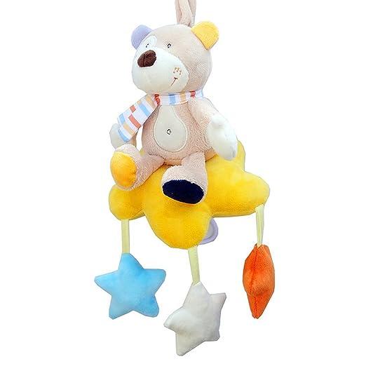Amazon Com Meiyiu Baby Wind Up Musical Stuffed Animal Stroller Crib