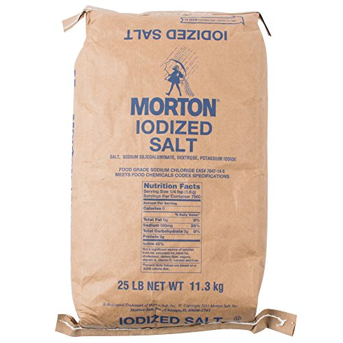Morton Iodized Table Salt, 25 Pound (Iodized Table Salt compare prices)