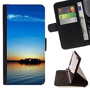 For Sony Xperia Z3 Plus / Z3+ / Sony E6553 (Not Z3) Case , Sunset Beautiful Nature 104- la tarjeta de Crédito Slots PU Funda de cuero Monedero caso cubierta de piel