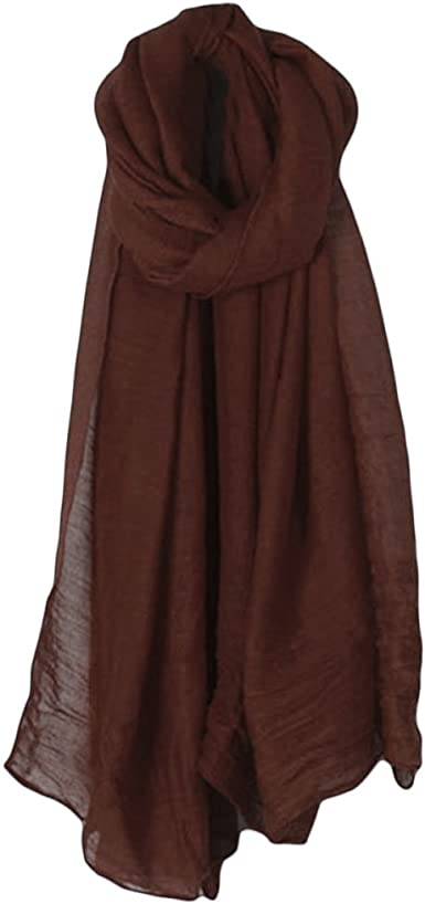 Ladies supper pleated head scarf maxi viscose solid line crinkle shawl hijab