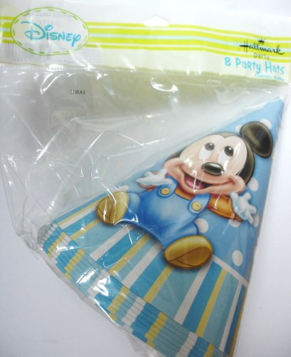 Disney Mickey's 1st Birthday Cone Hats (8)