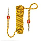 #8: NIECOR 10MM Outdoor Climbing Rope 10M(32ft) 20M(64ft) 30M (98ft) Static Rock Climbing Rope, Escape Rope Ice Climbing Equipment Fire Rescue Parachute Rope