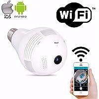 Câmera IP Wi-Fi Ípega Lampada 360º Panorâmica Segurança Espiã - KP-CA122