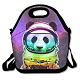 Space Panda Astronaut Lunch Bag Tote Handbag Lunchbox Food Container Tote Cooler Warm