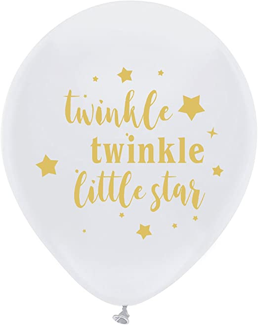 Twinkle Twinkle Little Star Boy Birthday or Baby Shower Deluxe Party Supplies Kit for 24