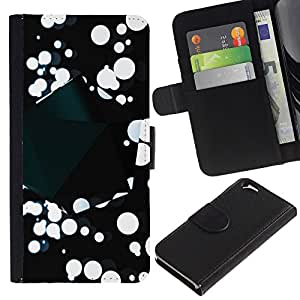 All Phone Most Case / Oferta Especial Cáscara Funda de cuero Monedero Cubierta de proteccion Caso / Wallet Case for Apple Iphone 6 // Abstract B&W Splatter