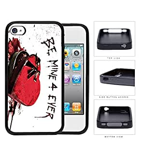 Be Mine 4 Ever Valentines Day Gift Box Rubber Silicone TPU Cell Phone Case Apple iPhone 4 4s