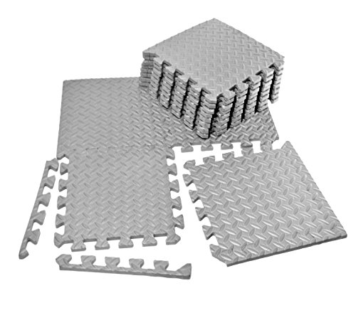 VViViD Gray Interlocking EVA Foam Floor Mat Tile Pack by VViViD