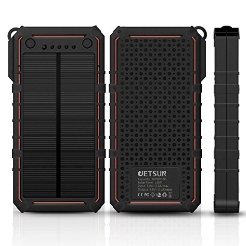JETSUN-Solar-Charger-16750mAh-Portable-Solar-Power-Bank-with-Waterproof-Solar-Panel-and-Flashlight-for-iPhone-iPad-Android-and-more-Orange