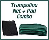 Upper Bounce Super Net & Pad Combo Fits for 14' Round Frames Using 4 Poles or 2 Arches