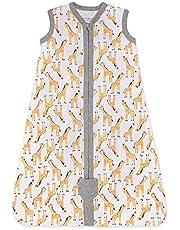 Burt's Bees Baby Baby Beekeeper Wearable Blanket, 100% Organic Cotton, Swaddle Transition Sleeping Bag, Giraffe, Small
