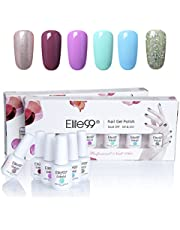Elite99 Gelpolish Soak off UV LED Gel Nail Polish Set 8ML 6pcs Long Lasting Gel Varnish Manicure Gift Set (C018)