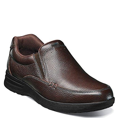 Brown on Bush Slip Leather Shoe Walking Tumbled Casual Cam Nunn Men's wxpgq8UPPn