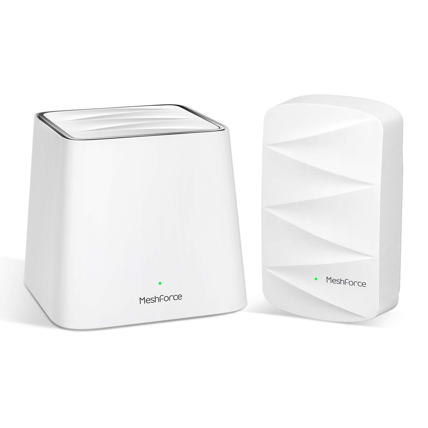 MeshForce Whole Home Mesh WiFi System M3 Suite (1 WiFi Point + 1 WiFi Dot) - Dual Band WiFi System Router Replacement and Wall Plug Extenders-High Performance Wireless Coverage for 4+ Bedrooms Home by Meshforce
