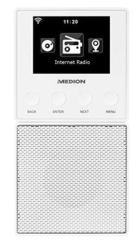 MEDION MD 87248 Internetradio für die Steckdose mit Wlan, Bluetooth, DNLA, UPnP, DMR, abnehmbarer Lautsprecher, Steuerung per App (Android / iOS), schwarz