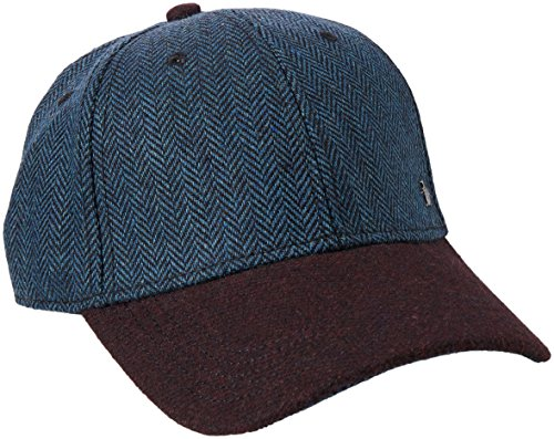 Original Penguin Men's Wool Herringbone Ball Cap, Dark Sapphire, One (Wool Mens Ball Cap)