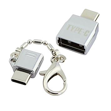 Genrico Llavero de Metal Tipo-c Macho A Micro USB / Usb2.0 ...