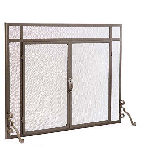 2-Door Solid Steel Flat Guard Fire Screen, Size 39W x 31H, i