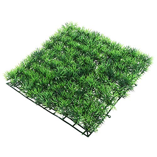 UEETEK Fish Tank Square Artificial Grass Lawn Aquarium Fake Grass Mat for Decoration (Tank Fish Grass)