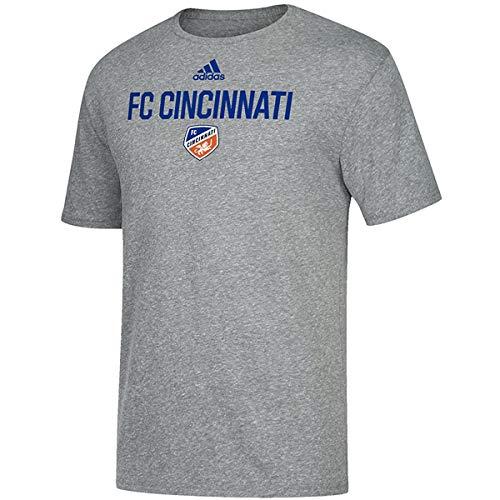 adidas FC Cincinnati Men's Locker Stacked Logo Tri-Blend Heathered T-Shirt (Small)