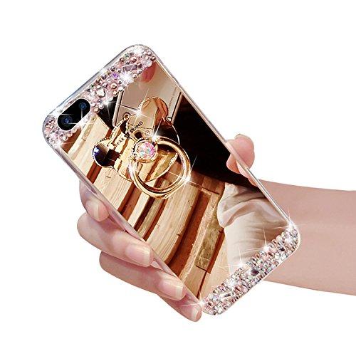 [해외]애플 아이폰 7 플러스 5.5 인치 럭셔리 미러 라인 석 케이스/Apple iPhone 7 Plus 5.5 inch Luxury Mirror Rhinestone Case