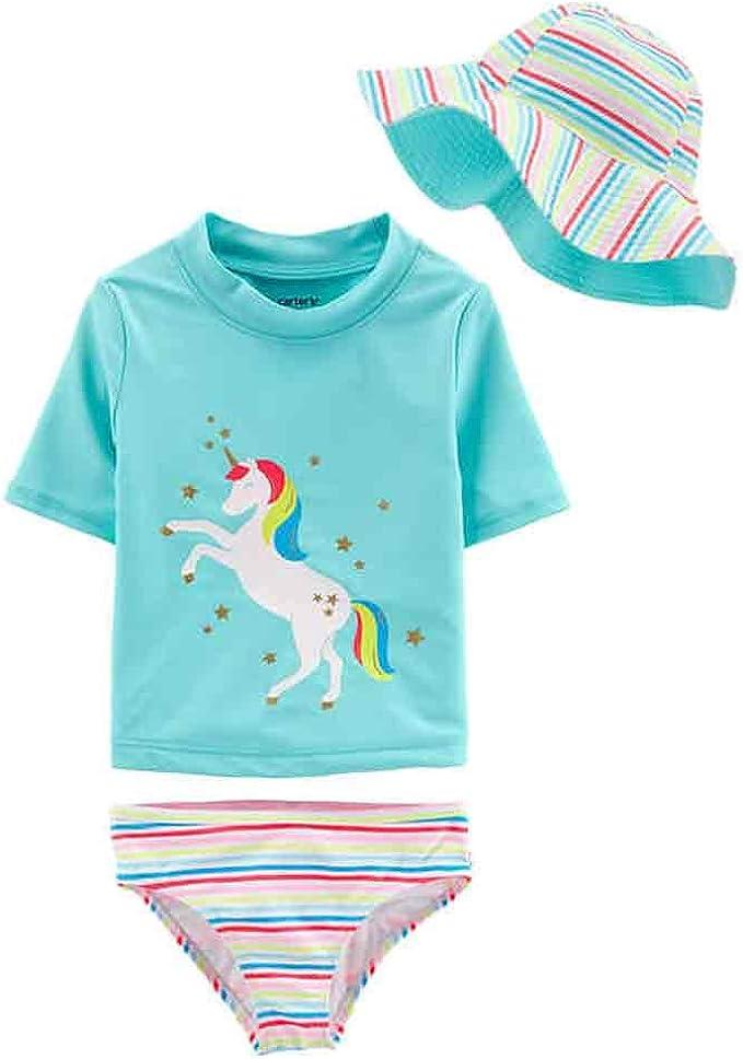 Amazon.com: Carters 3 piezas traje de baño para niñas ...