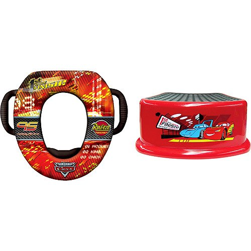Disney - Cars Soft Potty and Step Stool