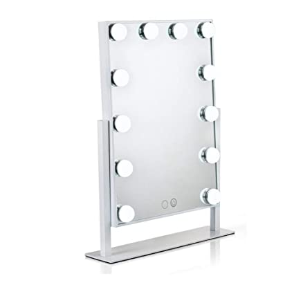Lighted Makeup Mirror.Waneway Lighted Vanity Mirror With 12 X 3w Dimmable Led Bulbs And Touch Control Design Hollywood Style Makeup Cosmetic Mirrors With Lights White