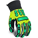 Our Best Selling Impact Glove, Heavy Duty Mechanic Work Gloves with Outstanding Padding, Protection, and Durability. Stylish Modern Look, CE Certified, Great Fit in 3 Sizes, Super LOW Price
