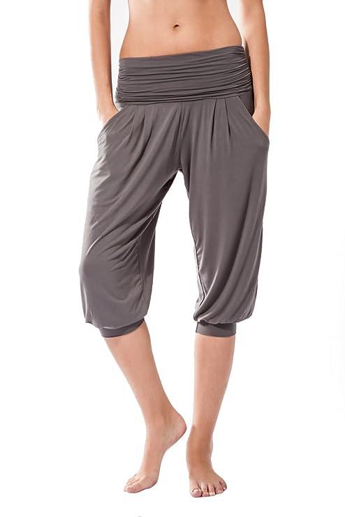 Sternitz Frauen-Fitnesshose, Rabi, ideal für Pilates, Yoga und jeder Sportart, Bambusgewebe, ökologische und weich. Hose