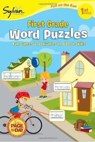 Download First Grade Word Puzzles (Sylvan Fun on the Run Series) (Sylvan Fun on the Run Series, Language Arts) pdf