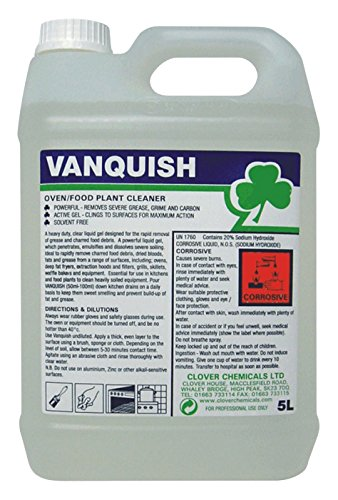 Clover Chemicals BBC020-5 Vanquish Heavy Duty Oven Cleaner, 5 L Jar (Pack of 2)