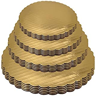 Gold Cake Boards 6 8 10 12 Inch Set of 20 Circles Variety Pk Grease Proof Rounds
