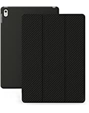 iPad Mini 4 Case - KHOMO® Dual Leather Black Case iPad Mini 4 - Ultra Slim Lightweight with Stand and Magnetic Smart Cover Auto Wake Sleep On / Off Function Full Body Protection for new Apple iPad Mini 4 - Leather Black